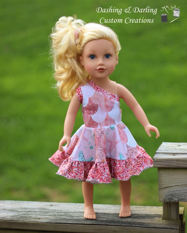 Island Hopper Doll Dress Pattern