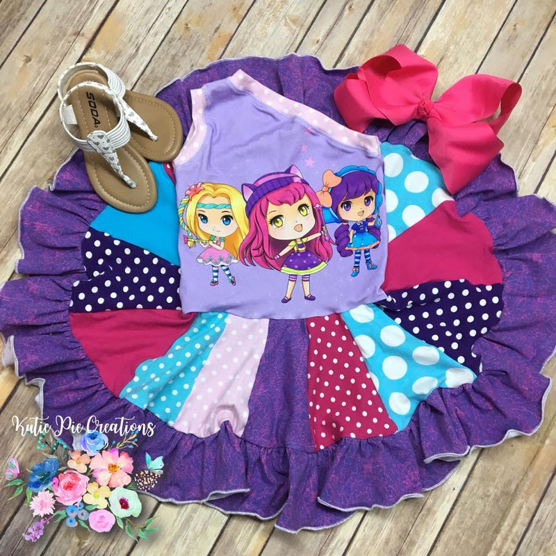 Girl's & Doll Island Hopper Dress Pattern Bundle Pack - Ellie and Mac, Digital (PDF) Sewing Patterns | USA, Canada, UK, Australia