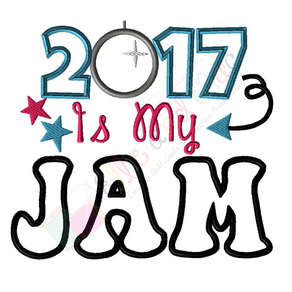 2017 Is My Jam Applique Embroidery Design - Ellie and Mac, Digital (PDF) Sewing Patterns | USA, Canada, UK, Australia