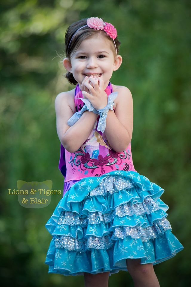Girls Kaitlynn Ruffled Halter Dress Pattern - Ellie and Mac, Digital (PDF) Sewing Patterns | USA, Canada, UK, Australia