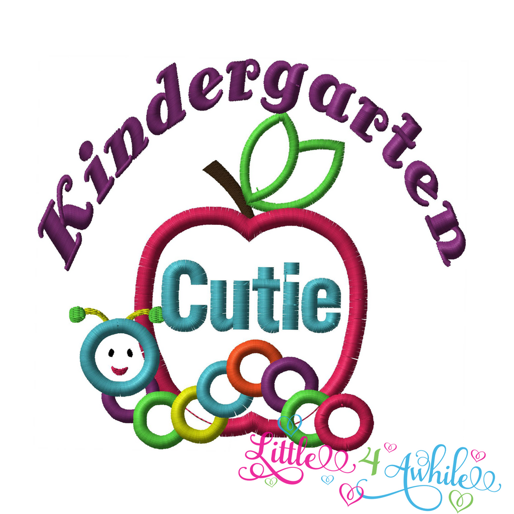 Kindergarten Cutie Applique Embroidery Design