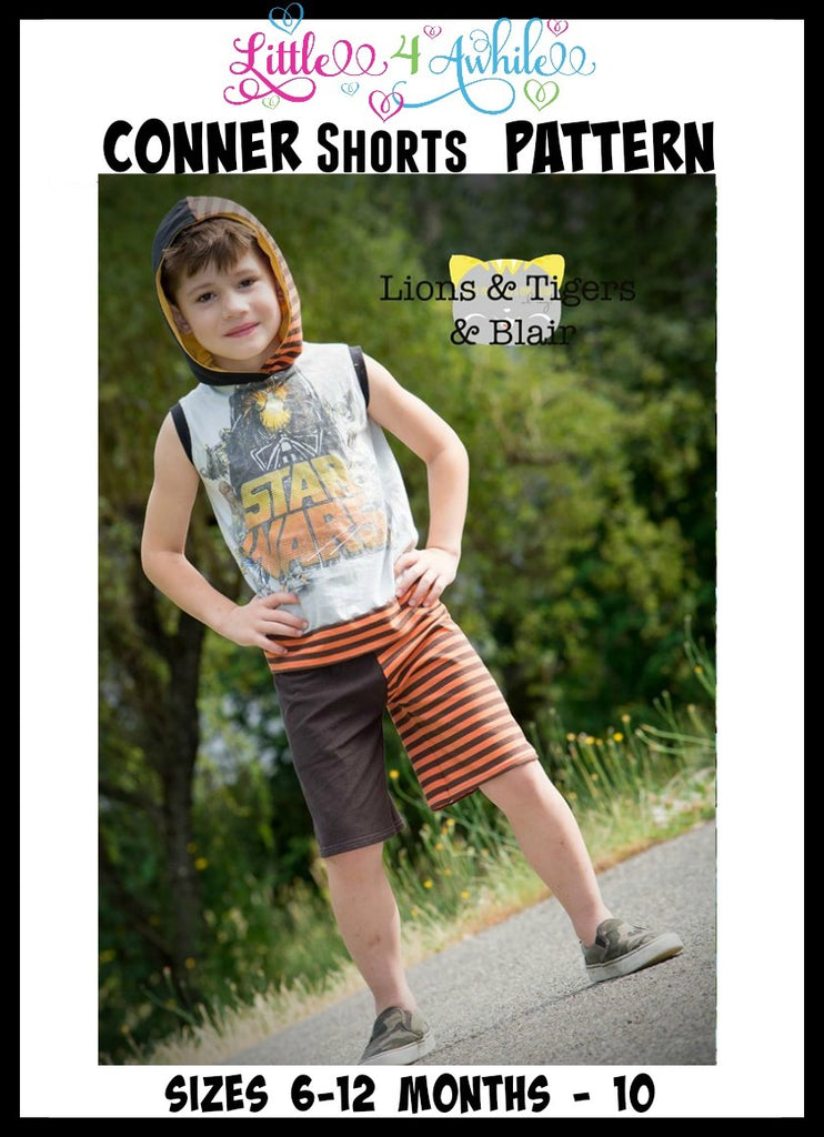 Boys Conner Shorts Pattern