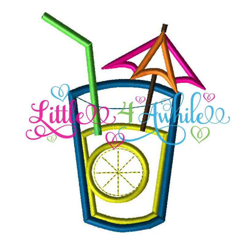 Summer Lemonade Drink Applique Design - Ellie and Mac, Digital (PDF) Sewing Patterns | USA, Canada, UK, Australia