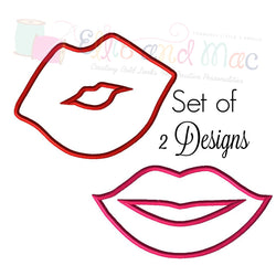 Lips Valentine Embroidery Design Set