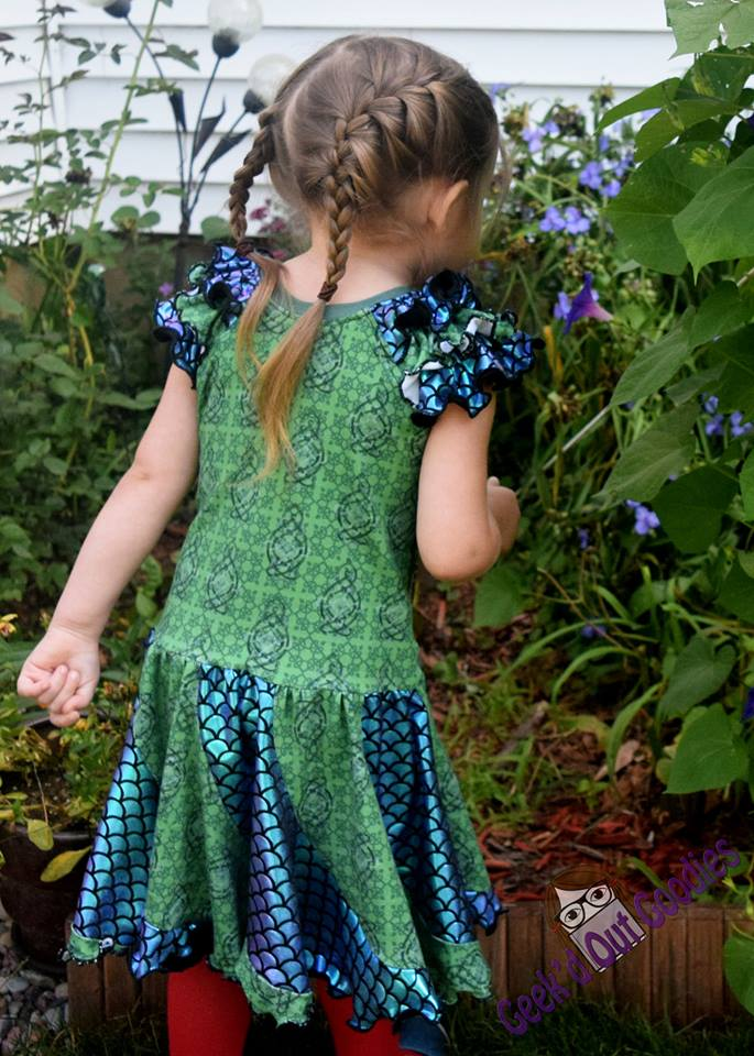 Girls Mermaid Swirl Dress Pattern