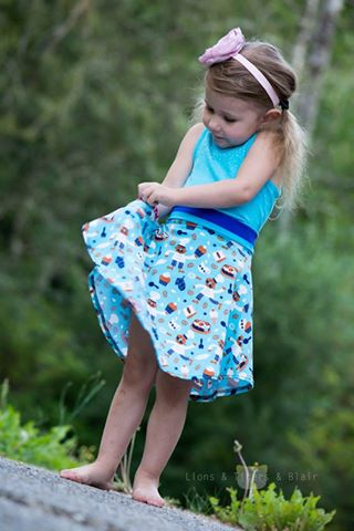 Girl's Molly Skirt Pattern - Ellie and Mac, Digital (PDF) Sewing Patterns | USA, Canada, UK, Australia