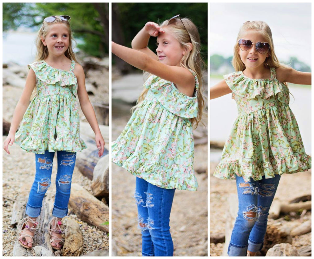 Girls Ocean Breeze Top & Dress Pattern