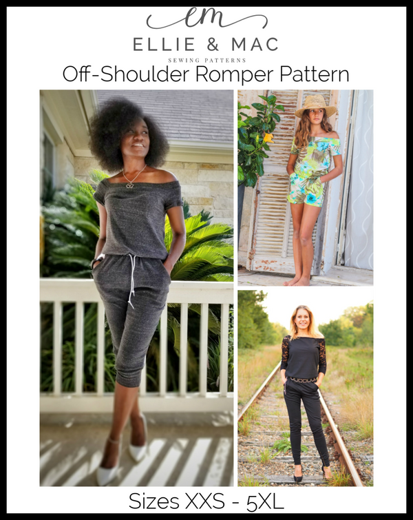 Off-Shoulder Romper Pattern
