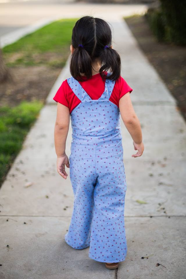 Girl's Be Outstanding Overalls Pattern - Ellie and Mac, Digital (PDF) Sewing Patterns | USA, Canada, UK, Australia