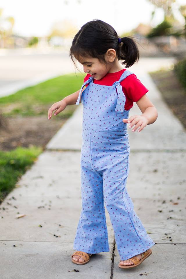 Girl's Be Outstanding Overalls Pattern