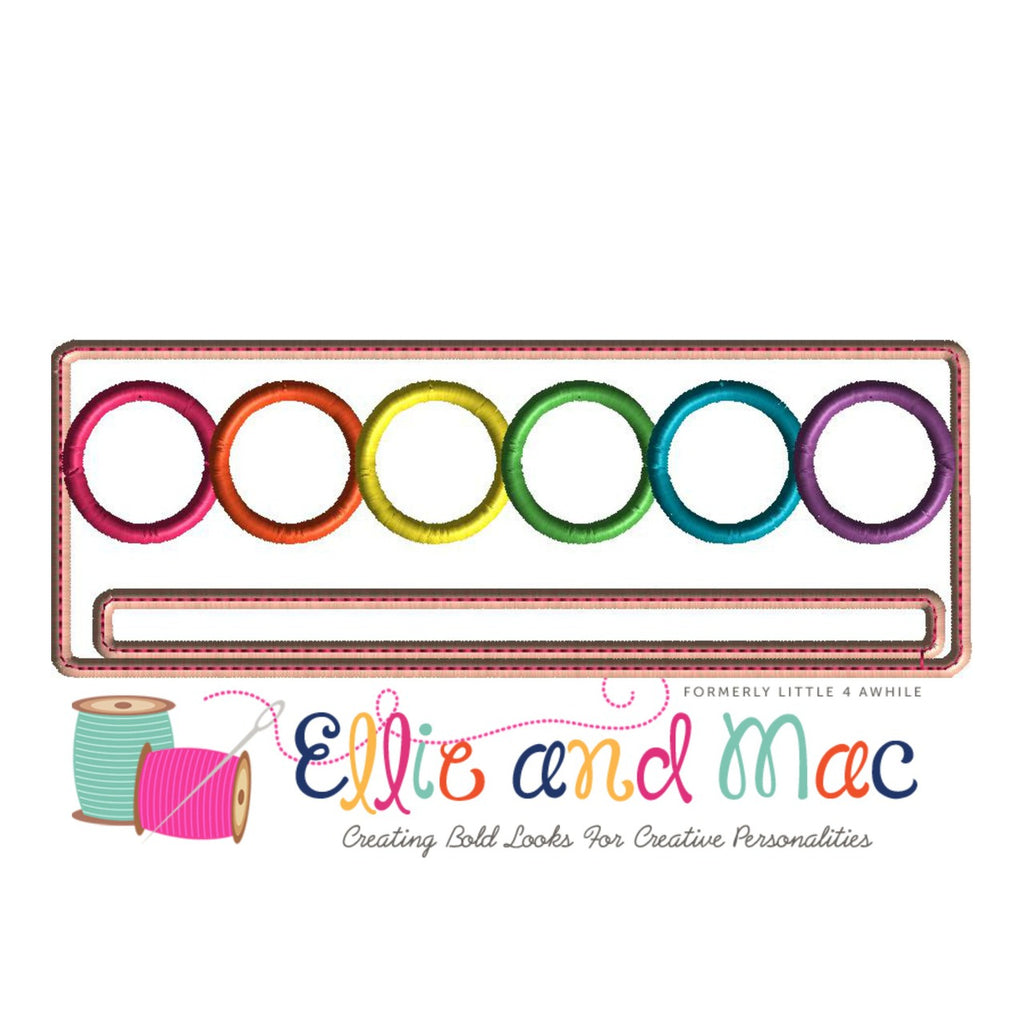 School Paint Tray Applique Design - Ellie and Mac, Digital (PDF) Sewing Patterns | USA, Canada, UK, Australia