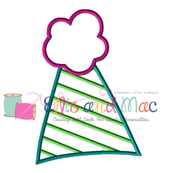 Birthday Party Hat Applique Design - Ellie and Mac, Digital (PDF) Sewing Patterns | USA, Canada, UK, Australia