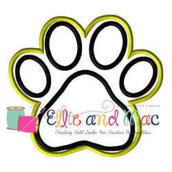 Paw Print Applique Embroidery Design - Ellie and Mac, Digital (PDF) Sewing Patterns | USA, Canada, UK, Australia