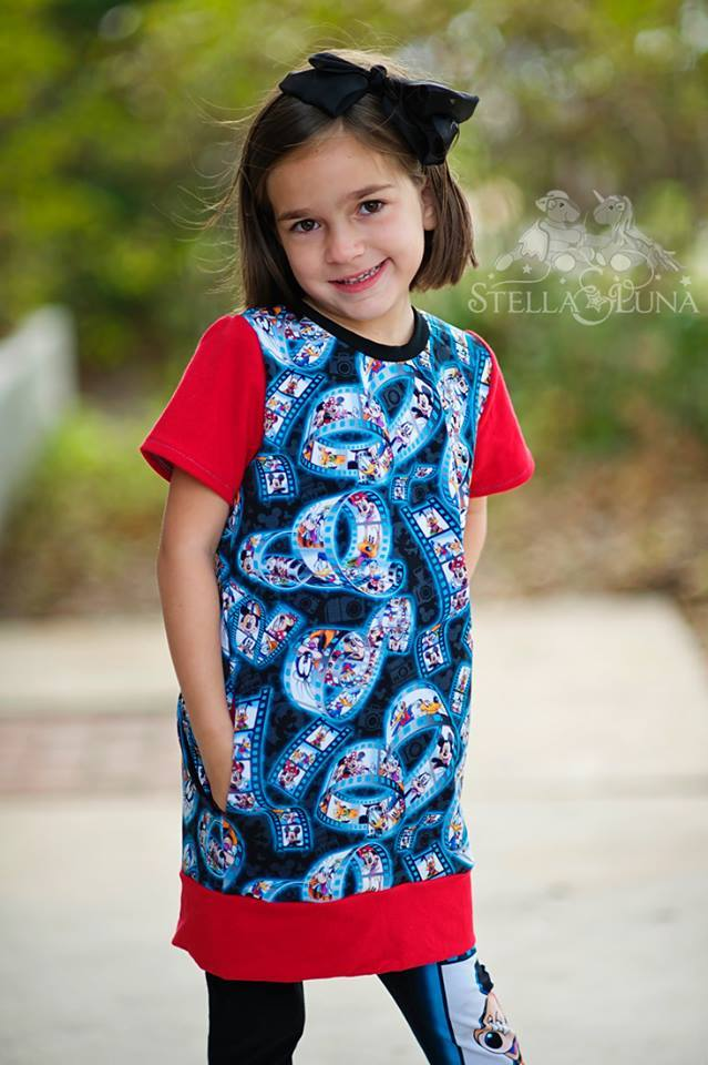 Girl's Playful Tunic Pattern - Ellie and Mac, Digital (PDF) Sewing Patterns | USA, Canada, UK, Australia