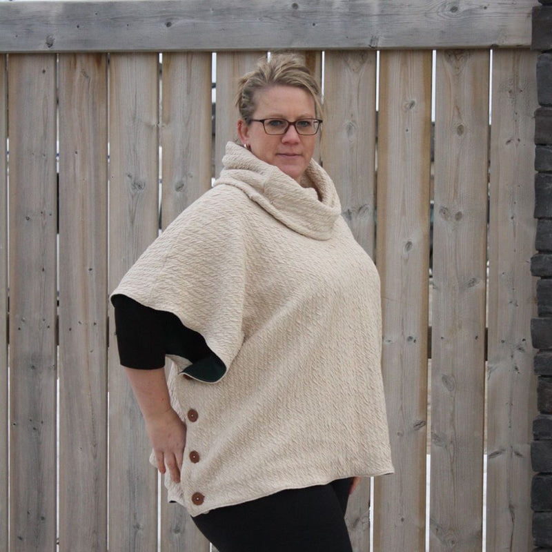 Women's Sugar n' Spice Poncho Pattern Wacky - Ellie and Mac, Digital (PDF) Sewing Patterns | USA, Canada, UK, Australia