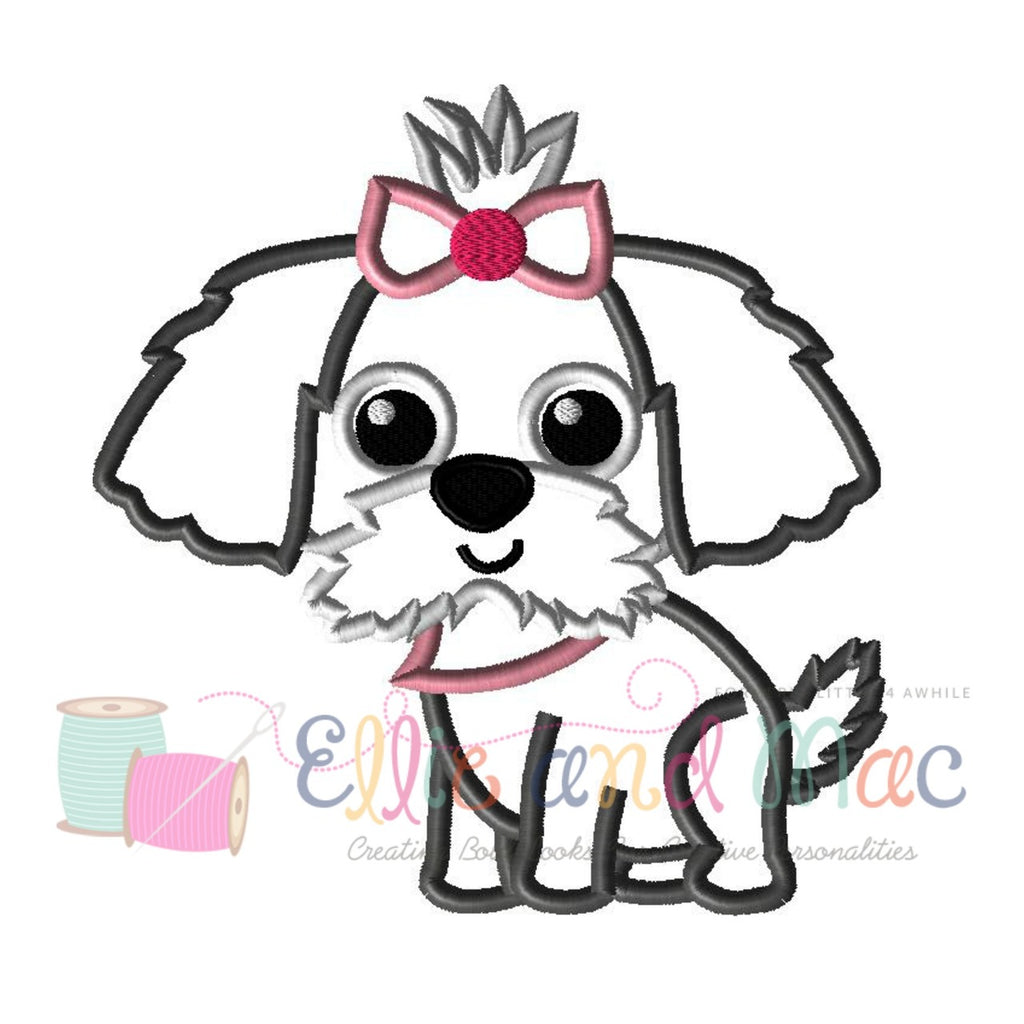 Pampered Pooch Applique Design - Ellie and Mac, Digital (PDF) Sewing Patterns | USA, Canada, UK, Australia