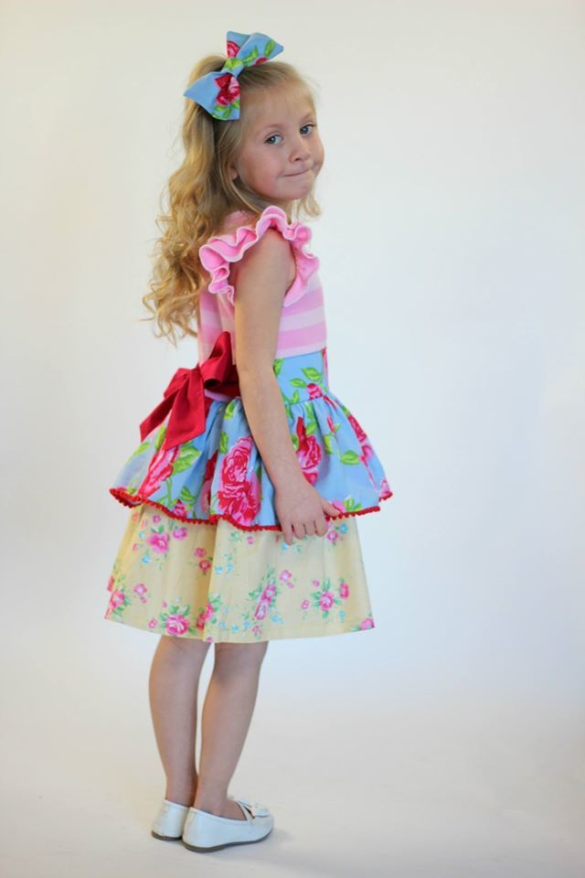 Girl's Quinn Dress Pattern - Ellie and Mac, Digital (PDF) Sewing Patterns | USA, Canada, UK, Australia