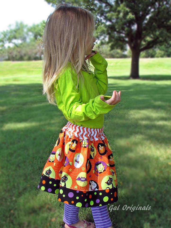 Girl's Rachel Skirt Pattern Updated - Ellie and Mac, Digital (PDF) Sewing Patterns | USA, Canada, UK, Australia