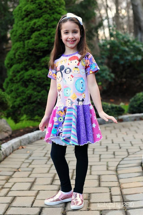 Girl's Rebel Dress & Tunic Pattern - Ellie and Mac, Digital (PDF) Sewing Patterns | USA, Canada, UK, Australia