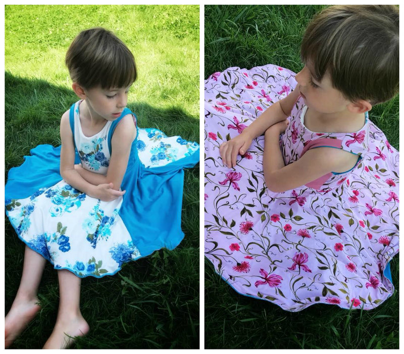 Girl's Reversible Dress Pattern - Ellie and Mac, Digital (PDF) Sewing Patterns | USA, Canada, UK, Australia