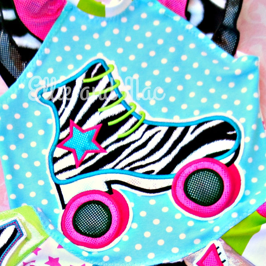 Roller Skate Applique Design - Ellie and Mac, Digital (PDF) Sewing Patterns | USA, Canada, UK, Australia