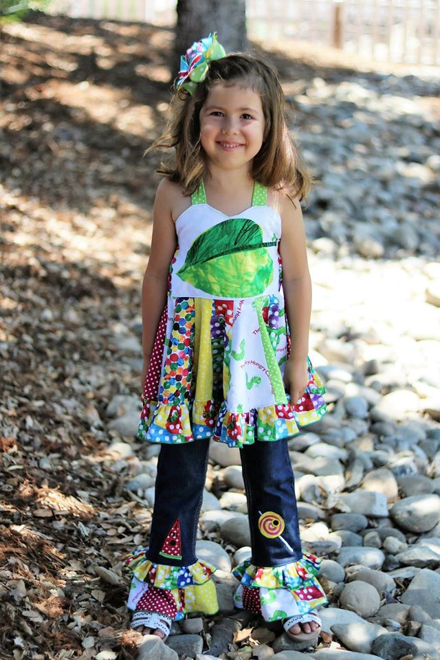 Rosie Girls Twirl Top Pattern - Ellie and Mac, Digital (PDF) Sewing Patterns | USA, Canada, UK, Australia