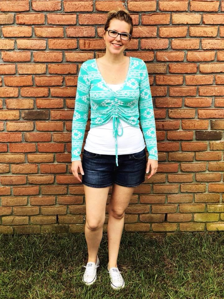 Women's Ruched Tee Pattern