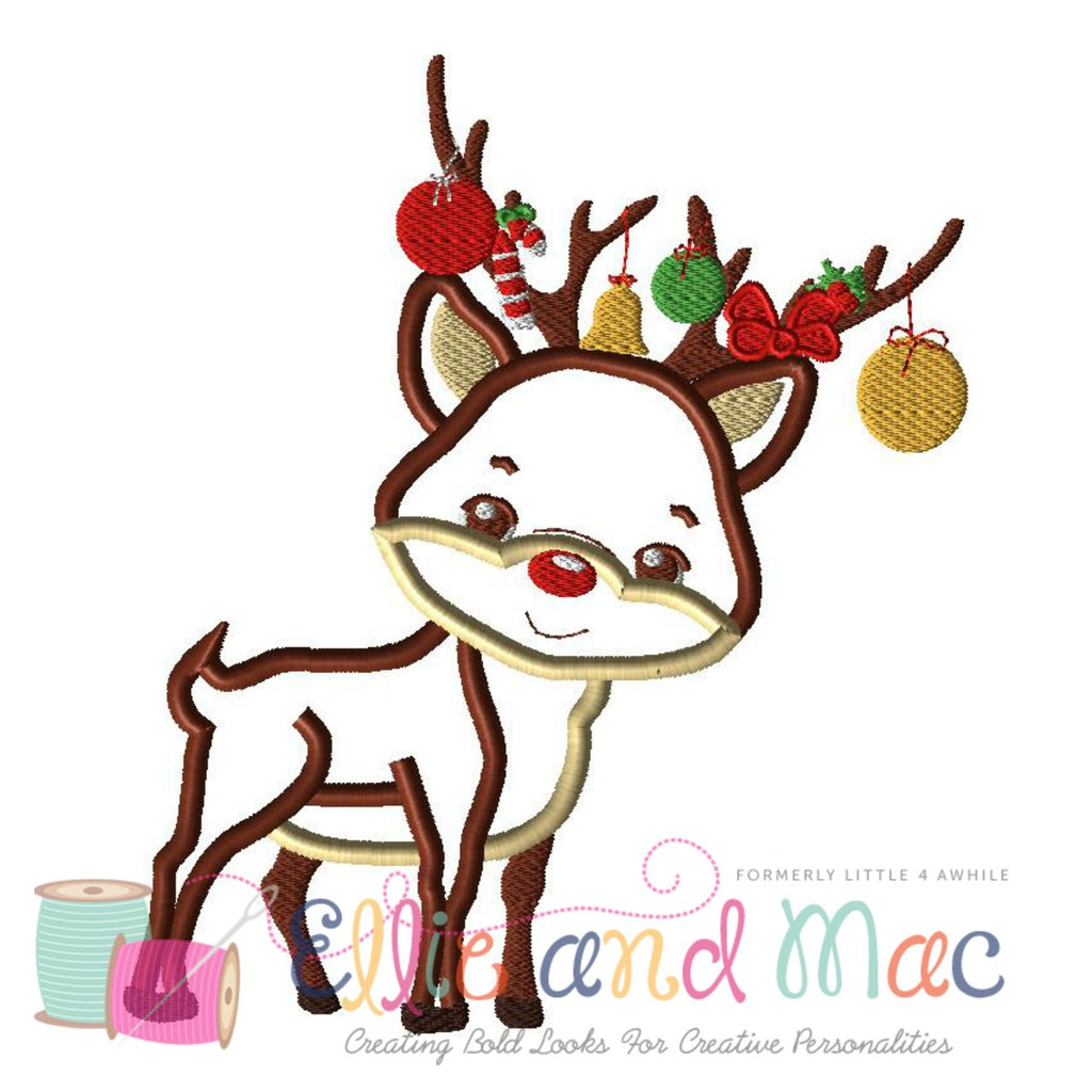 Rudolph Applique Design - Ellie and Mac, Digital (PDF) Sewing Patterns | USA, Canada, UK, Australia