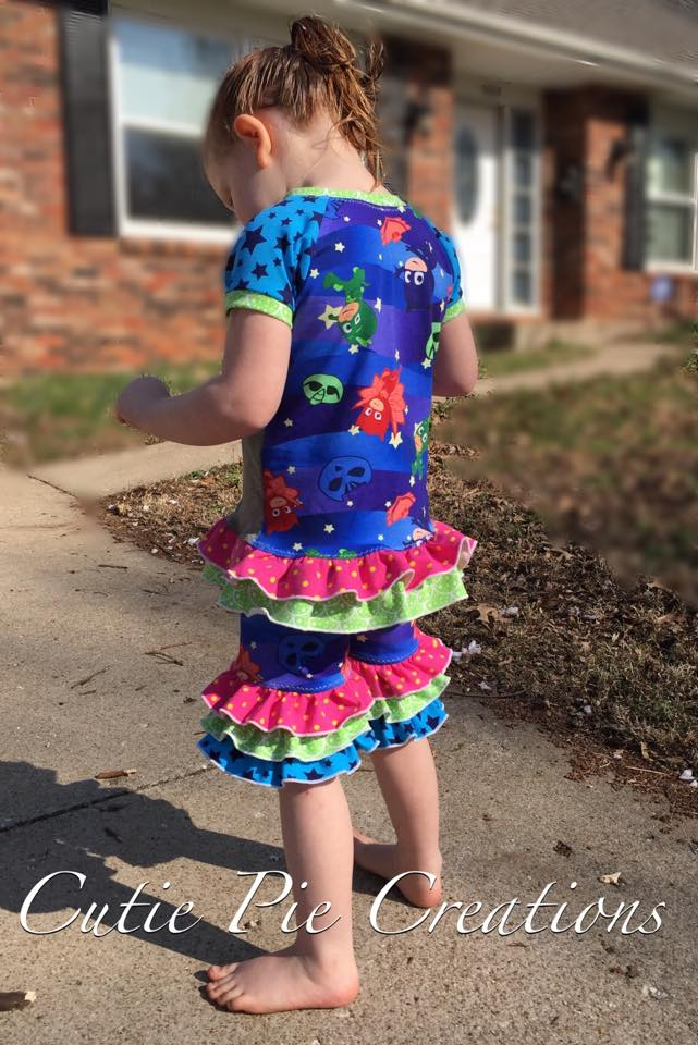 Ruffle Shorties Pattern - Ellie and Mac, Digital (PDF) Sewing Patterns | USA, Canada, UK, Australia