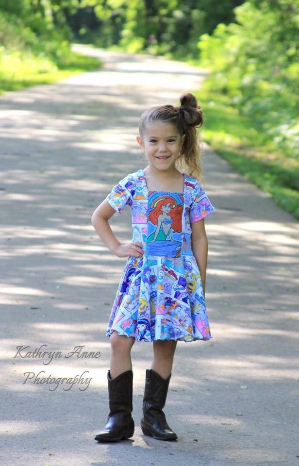 Girl's Sailor Dress & Peplum Pattern - Ellie and Mac, Digital (PDF) Sewing Patterns | USA, Canada, UK, Australia