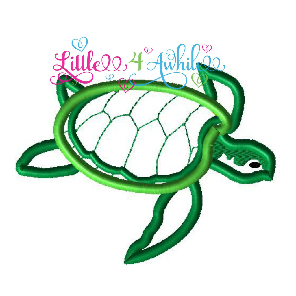 Sea Turtle Applique Design - Ellie and Mac, Digital (PDF) Sewing Patterns | USA, Canada, UK, Australia