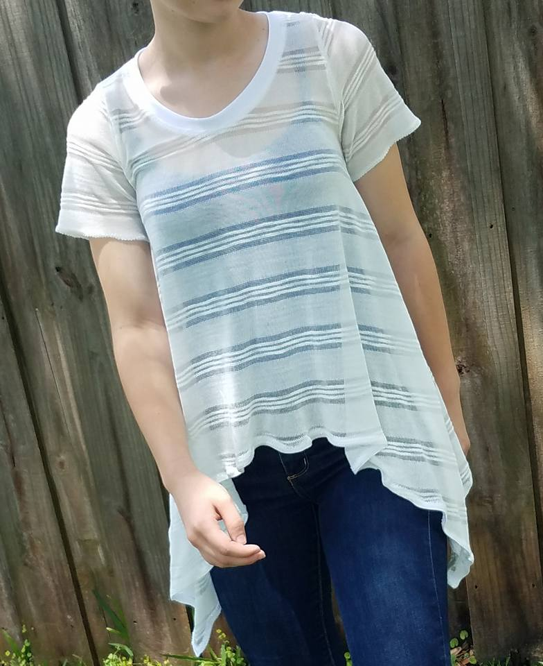 Women's Shark Bite Top Pattern - Ellie and Mac, Digital (PDF) Sewing Patterns | USA, Canada, UK, Australia