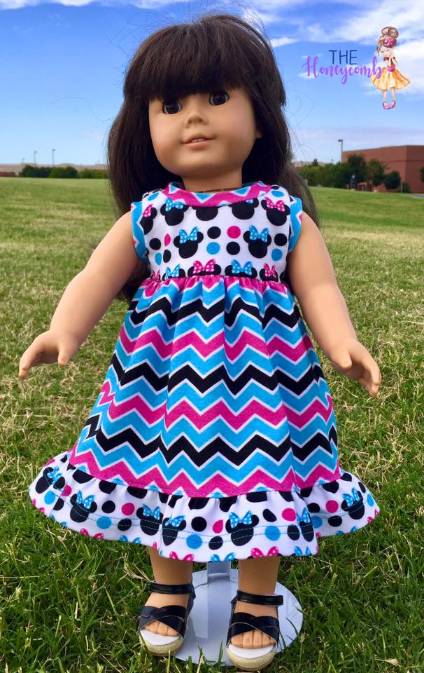 Simply Sweet Doll Dress Pattern - Ellie and Mac, Digital (PDF) Sewing Patterns | USA, Canada, UK, Australia