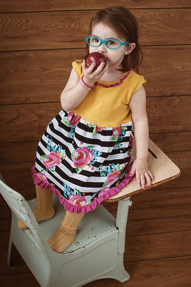 Girl's & Doll Simply Sweet Top & Dress Pattern Bundle Pack - Ellie and Mac, Digital (PDF) Sewing Patterns | USA, Canada, UK, Australia