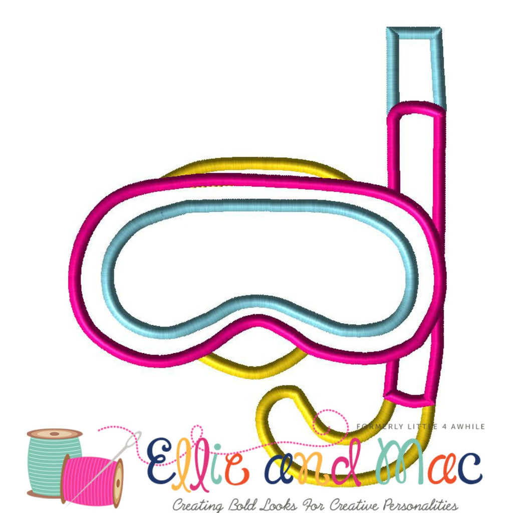 Snorkel Applique Embroidery Design - Ellie and Mac, Digital (PDF) Sewing Patterns | USA, Canada, UK, Australia