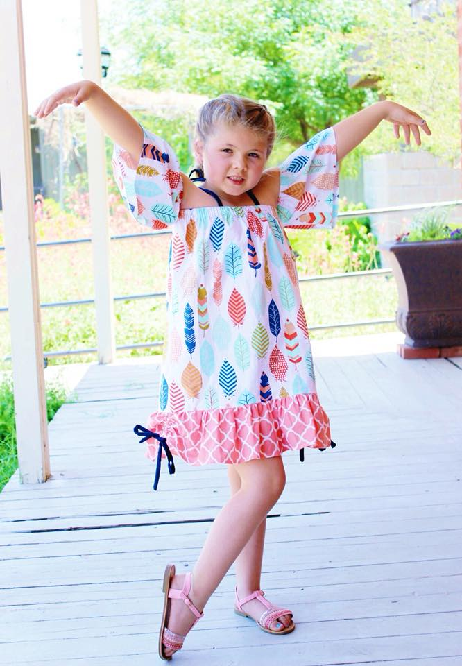 Girl's Summer Love Top & Dress Pattern - Ellie and Mac, Digital (PDF) Sewing Patterns | USA, Canada, UK, Australia