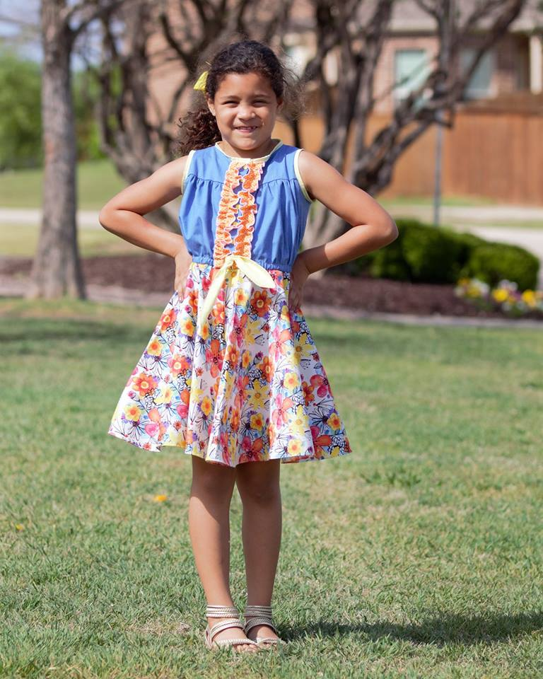 Girl's Sunkissed Dress Pattern - Ellie and Mac, Digital (PDF) Sewing Patterns | USA, Canada, UK, Australia