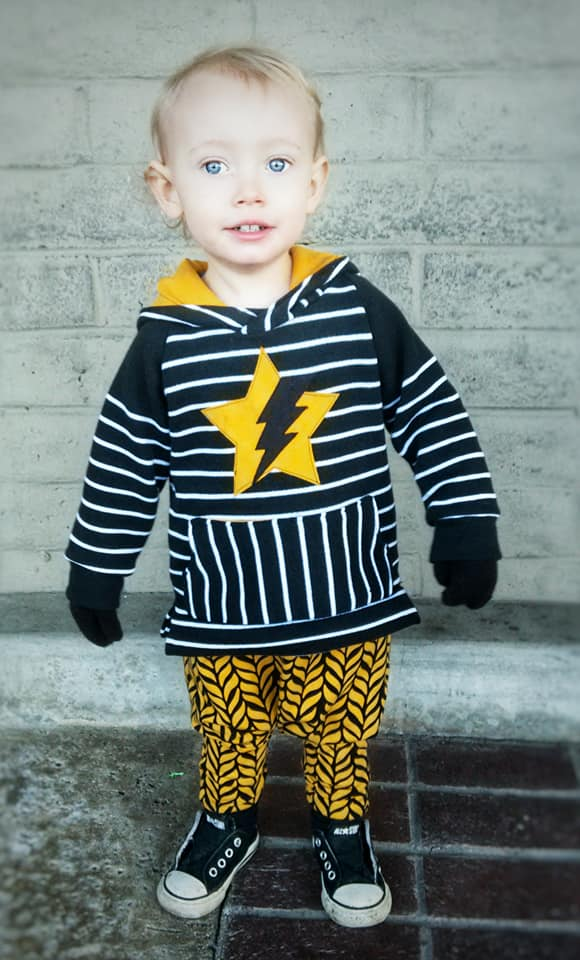 Boy's Swag Hoodie Pattern - Ellie and Mac, Digital (PDF) Sewing Patterns | USA, Canada, UK, Australia