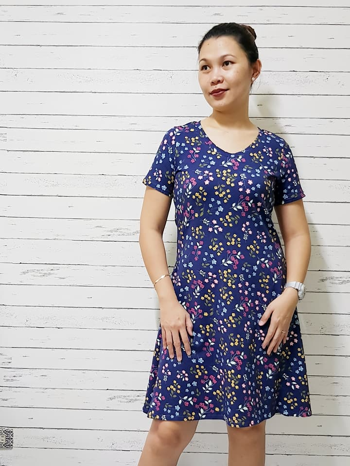 Tee Dress Women's Pattern - Ellie and Mac, Digital (PDF) Sewing Patterns | USA, Canada, UK, Australia