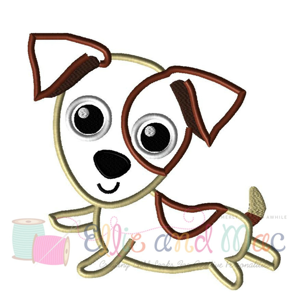 Terrier Dog Applique Design