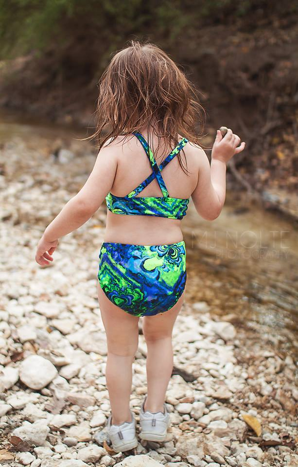 Girl's Tropical Getaway Swimsuit Mix & Match Pattern - Ellie and Mac, Digital (PDF) Sewing Patterns | USA, Canada, UK, Australia