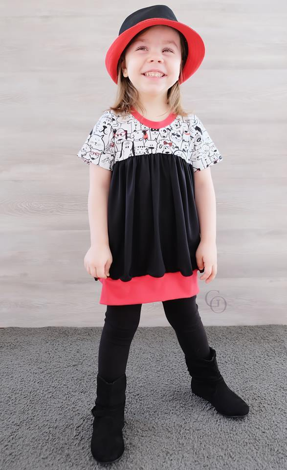 Girl's Tulip Tunic Pattern - Ellie and Mac, Digital (PDF) Sewing Patterns | USA, Canada, UK, Australia