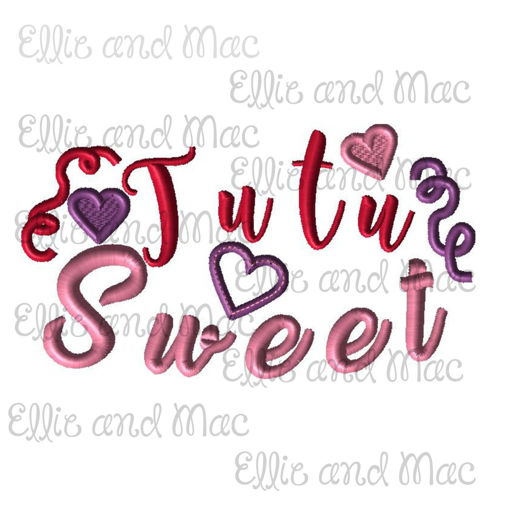 Tutu Sweet Embroidery Design - Ellie and Mac, Digital (PDF) Sewing Patterns | USA, Canada, UK, Australia