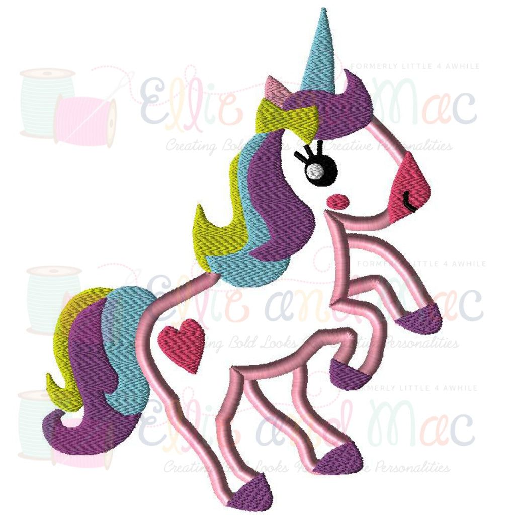 Unicorn Applique Design - Ellie and Mac, Digital (PDF) Sewing Patterns | USA, Canada, UK, Australia