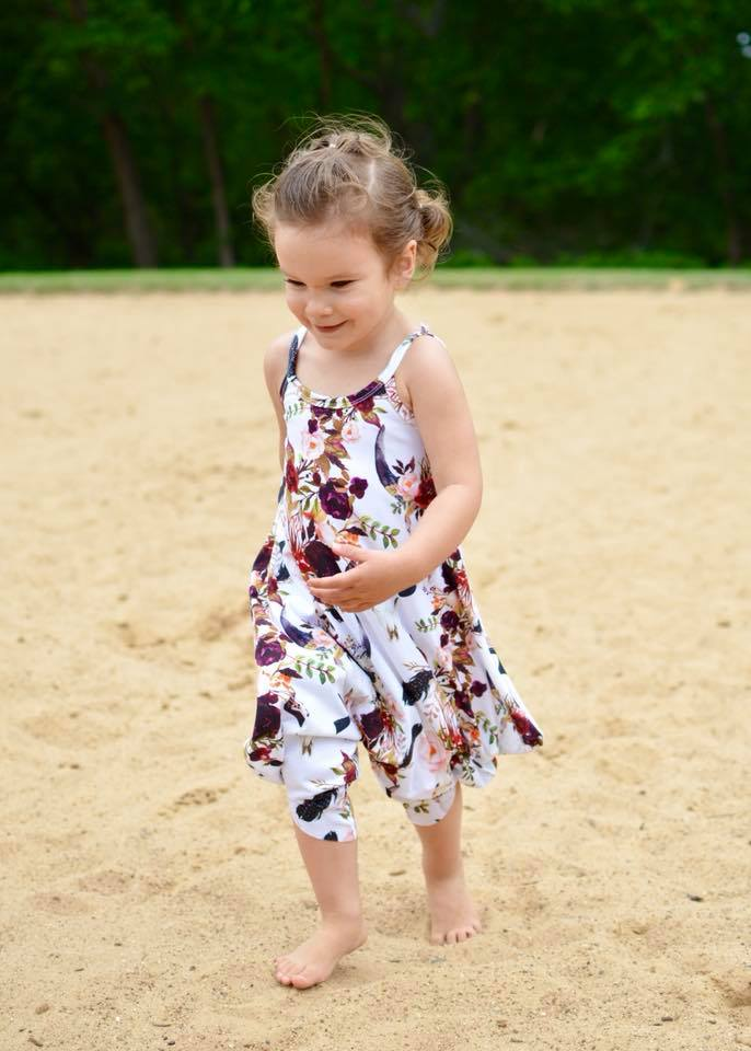 Girl's Vacation Romper Pattern - Ellie and Mac, Digital (PDF) Sewing Patterns | USA, Canada, UK, Australia