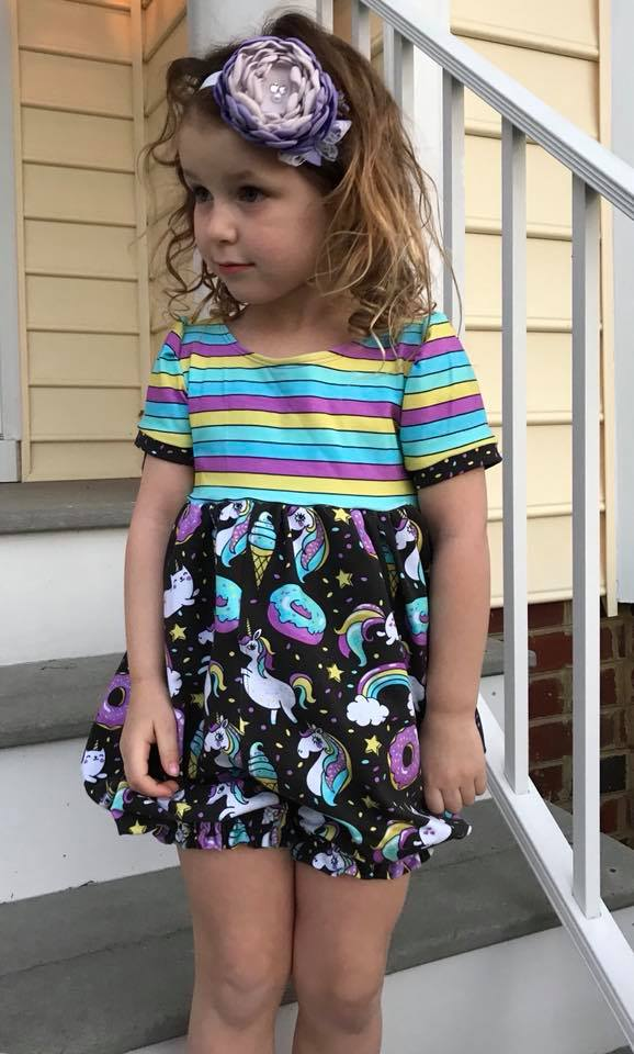 Girl's Whimsy Bubble Romper & Dress Pattern - Ellie and Mac, Digital (PDF) Sewing Patterns | USA, Canada, UK, Australia