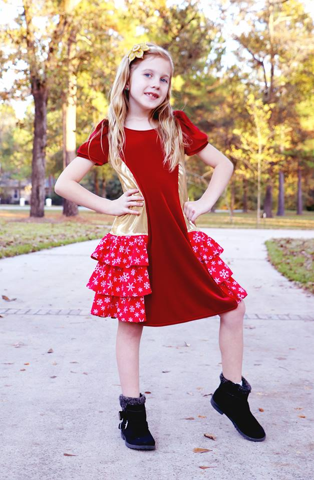 Girl's With Love Dress Pattern - Ellie and Mac, Digital (PDF) Sewing Patterns | USA, Canada, UK, Australia