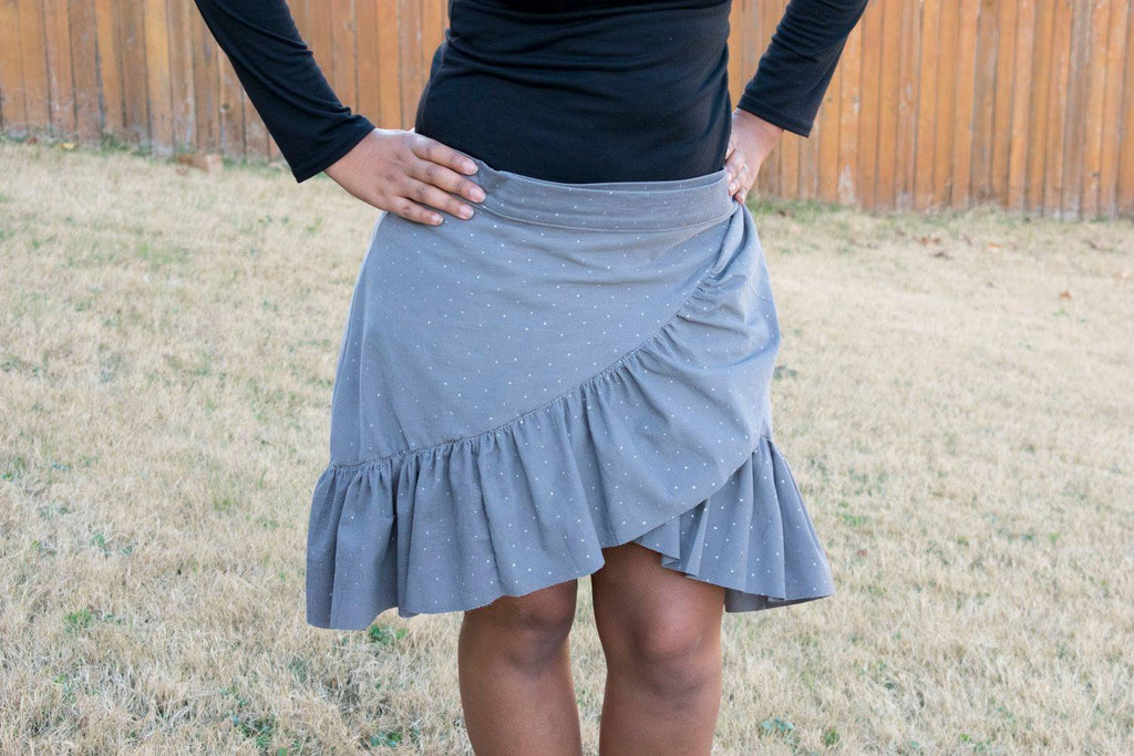 Women's Wrap Skirt Pattern - Ellie and Mac, Digital (PDF) Sewing Patterns | USA, Canada, UK, Australia