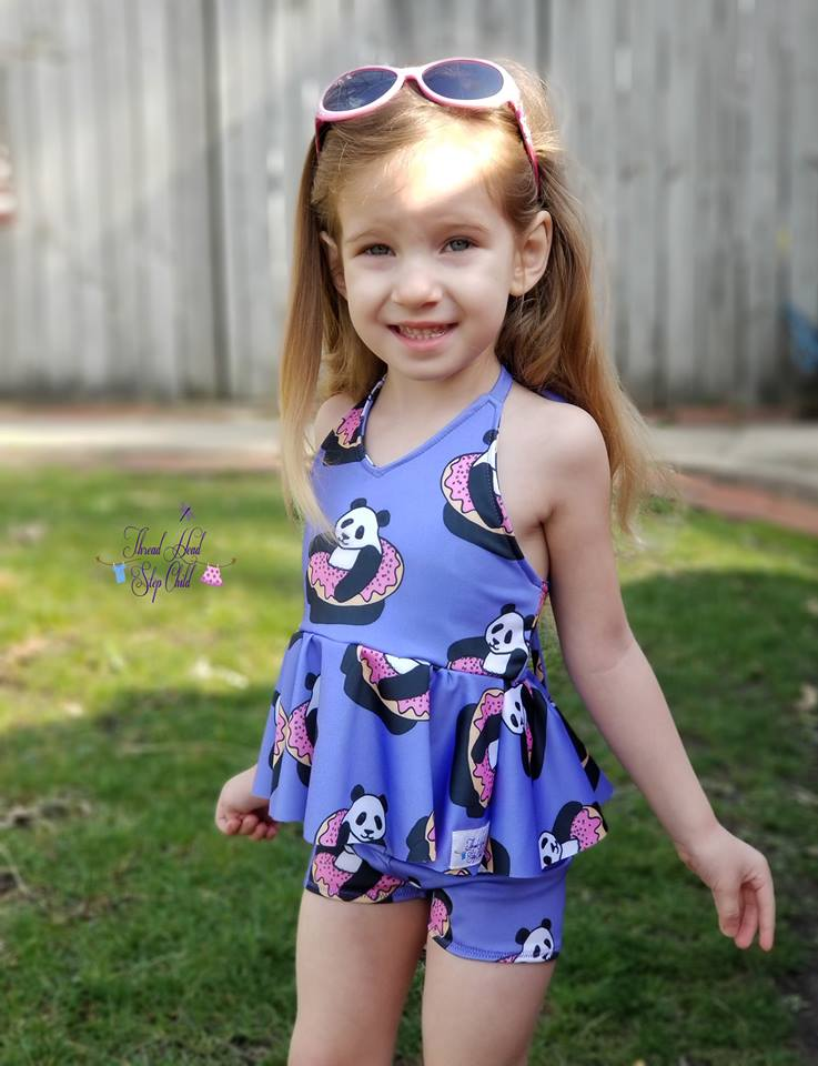 Girl\'s Be Brilliant Swimsuit Pattern – Ellie and Mac | Digital (PDF ...