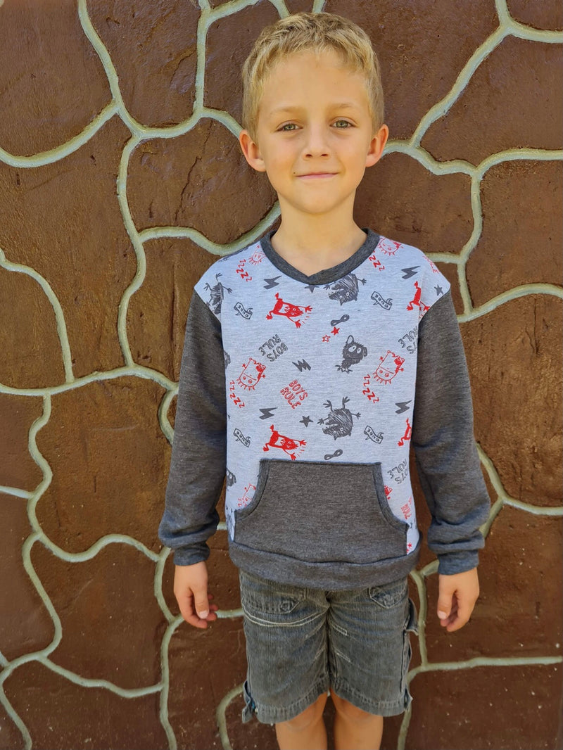 Kids Oversized Tee Pattern